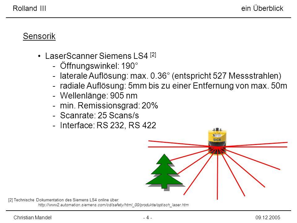 LaserScanner Siemens LS4 [2] Öffnungswinkel: 190°